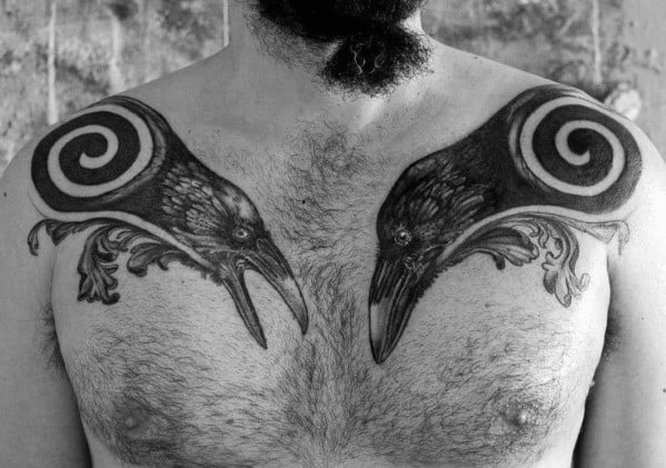 Odins Ravens Tattoo Ideas For Males