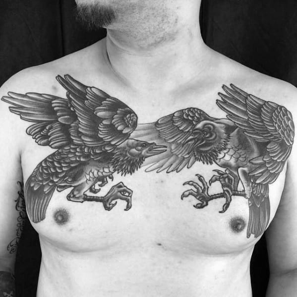 Odins Ravens Tattoo Ideas On Guys