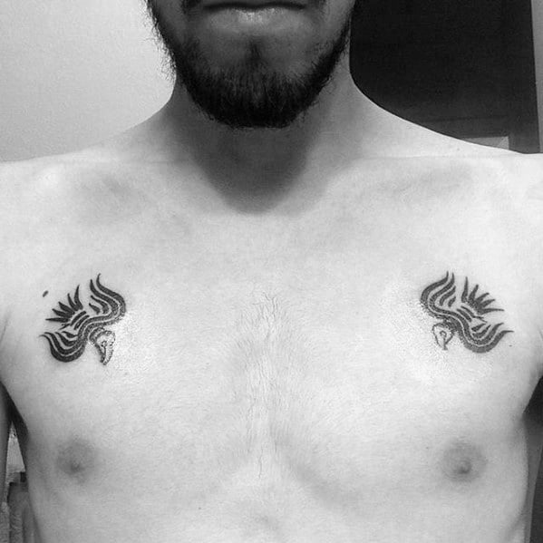 Odins Ravens Tattoo On Men