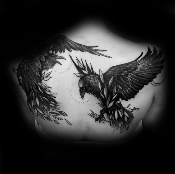 Odins Ravens Tattoos Male