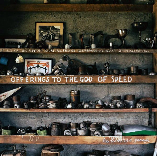 Offerings To The God Of Speed Shelf Man Cave Decor