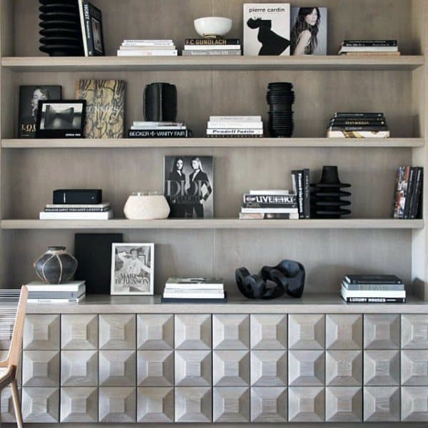 Office Bookshelf Decorating Ideas