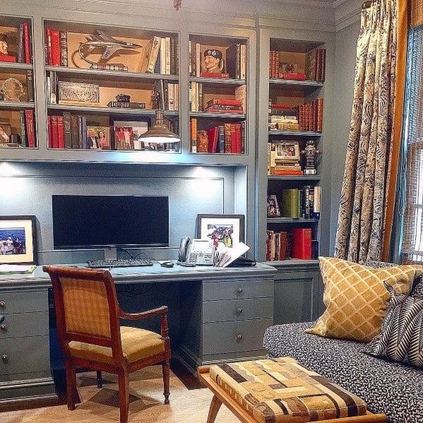 Office Desk Designs Built In Bookcase