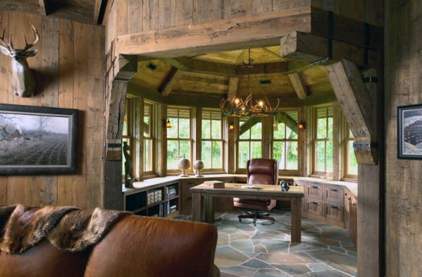 Office Rustic Wood Walls And Ceilings Awesome Man Caves For Men