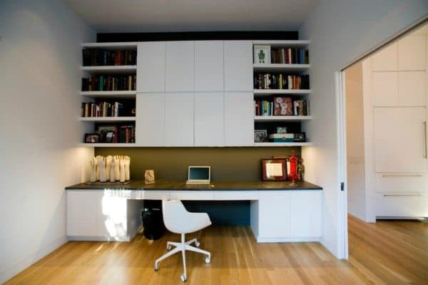 Office Unique Built In Desk Ideas