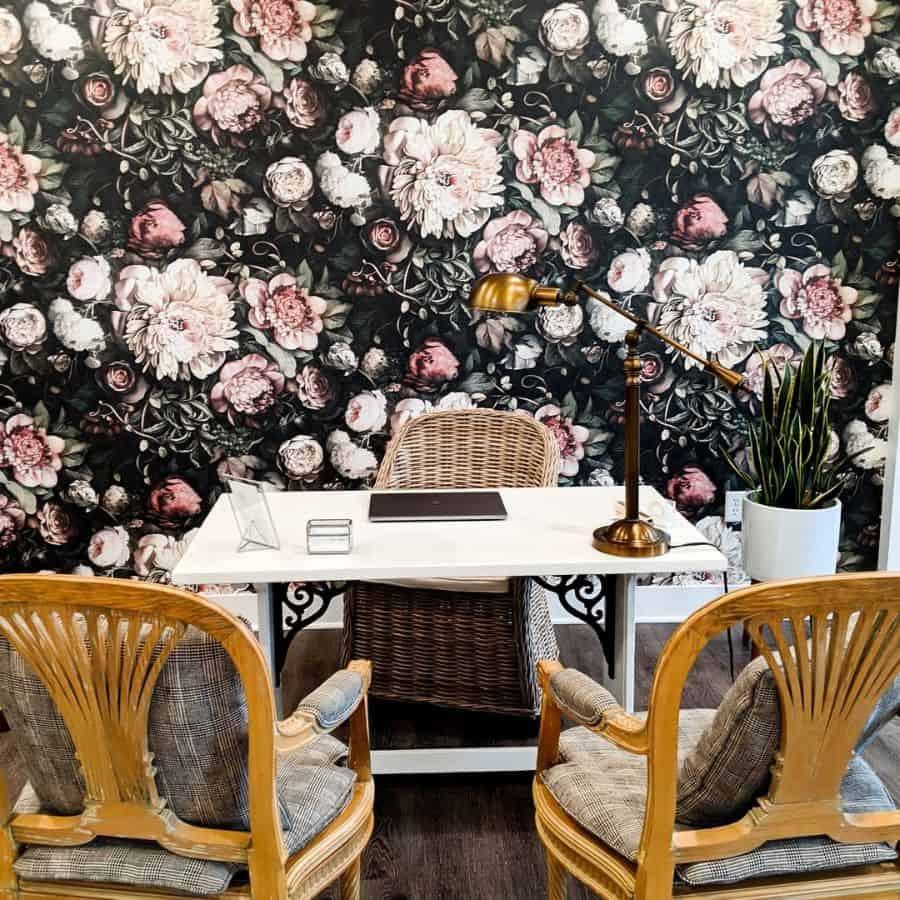Office Wallpaper Decor Elliecashmandesign