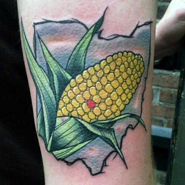 50 Corn Tattoo Ideas For Men Maize Designs