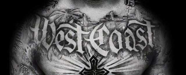 50 Old English Tattoos For Men – Retro Font Ink Design Ideas