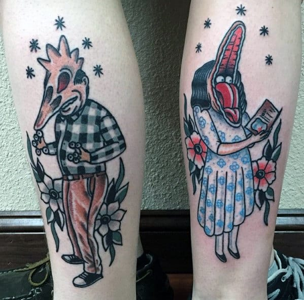 Old School Beetlejuice Forearm Tattoo Ideas For Guys