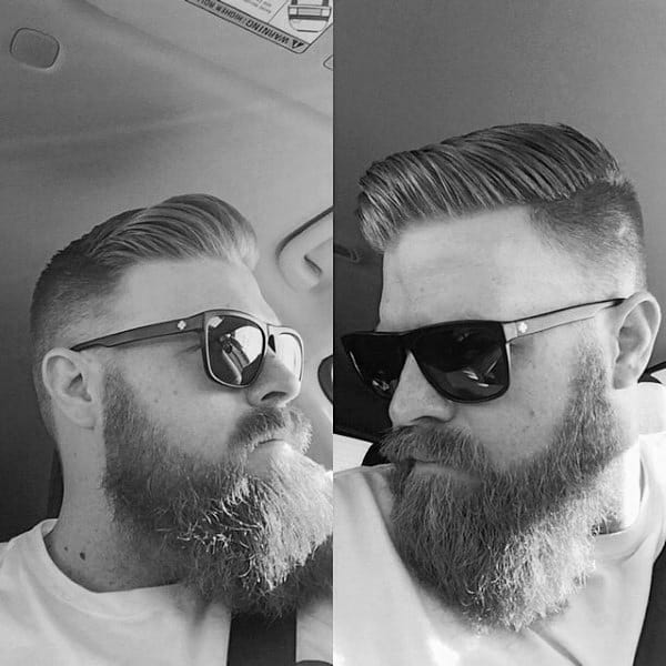 Old School Guys Hairstyle For Short Thin Hair Side Part
