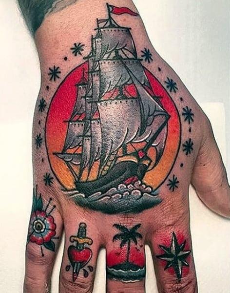 100 nautical tattoos for men slick seafaring design ideas. Black Bedroom Furniture Sets. Home Design Ideas