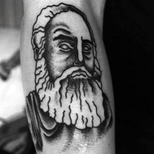 Old School Mens Grandpa Tattoo On Arm