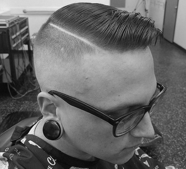 Old School Mens Haircut Comb Over