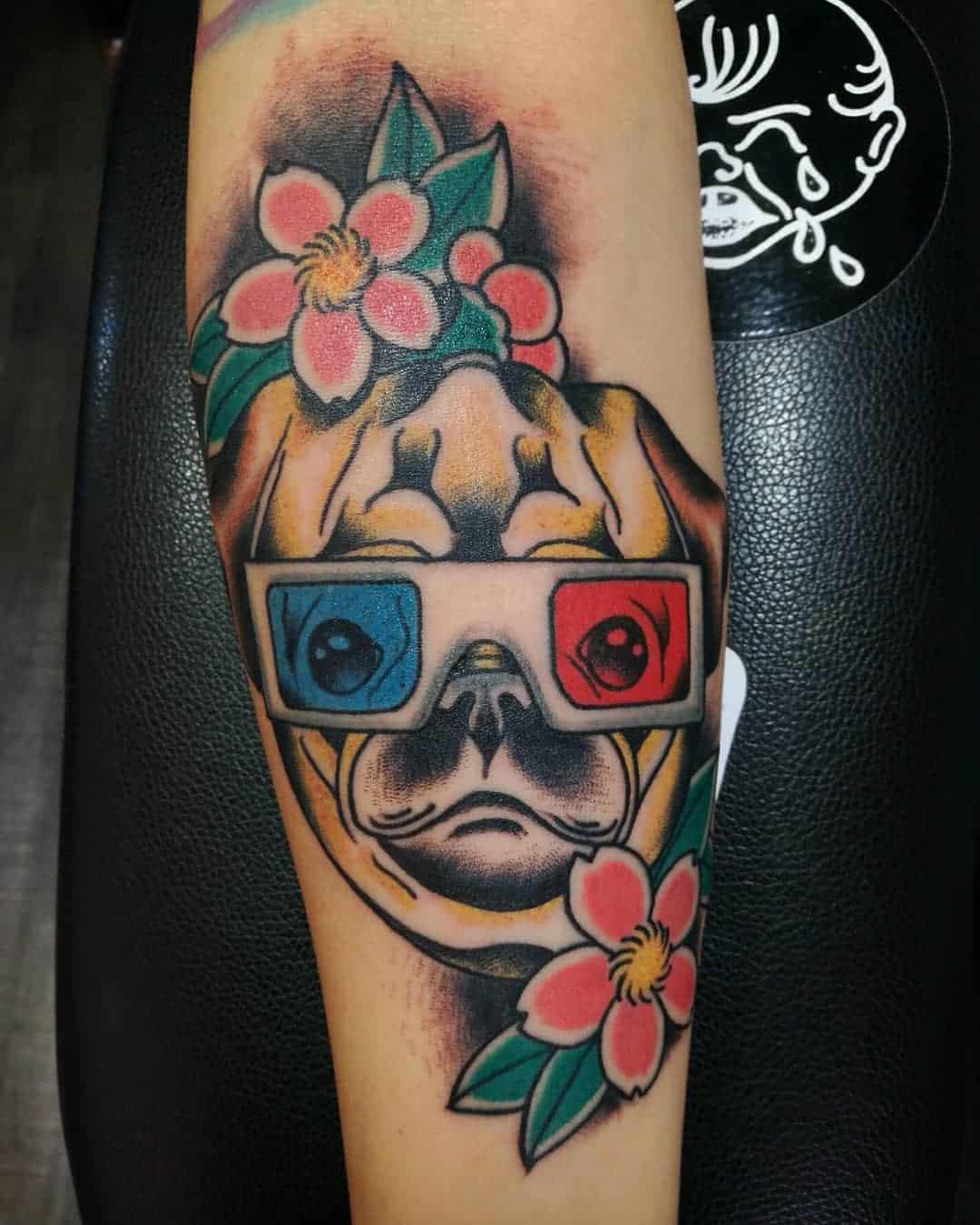 Old School Traditional Pug Tattoo Gueller9