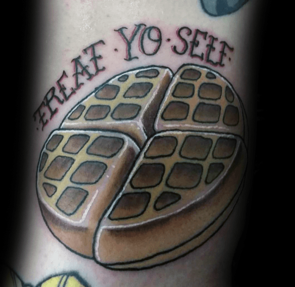 Old School Traditional Waffle Tattoos For Men