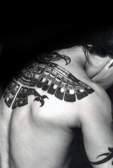 4bdddc77e5eab 50 Tribal Bird Tattoo Designs For Men - Cool Ink Ideas