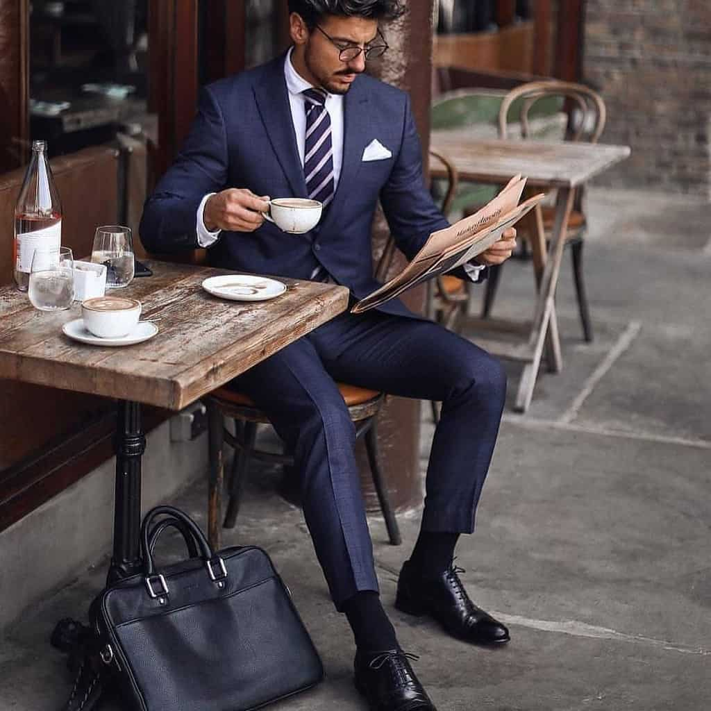 Old Style Suit Mens Outfit