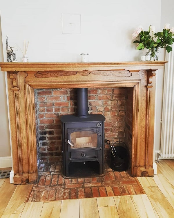 Old Traditional Brick Fireplace Surround Edwardiansemi