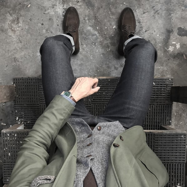 Olive Green Blazer With Jeans Business Casual Outfits Style