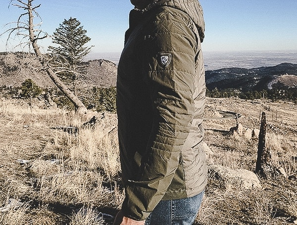 Olive Guys Kuhl Wildkard Hybrid Hoodie Review While Hiking