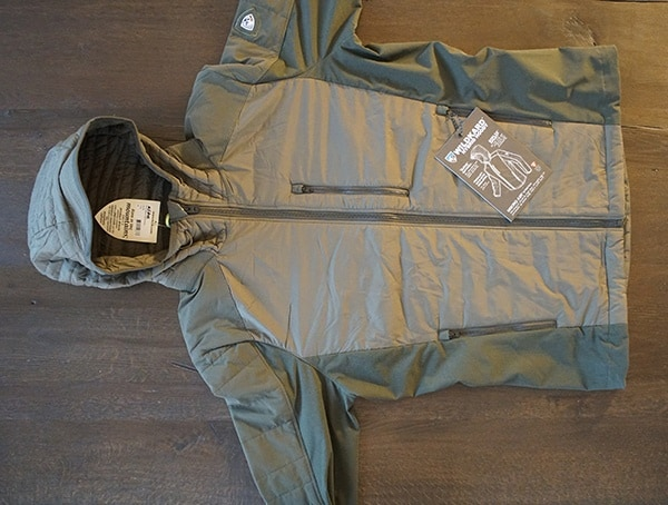 Olive Mens Kuhl Wildkard Hybrid Jacket Front