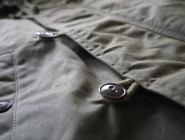 Olive Mens Mountain Ranger Parka Outer Loop Buttons