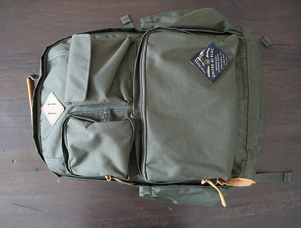 Olive United By Blue 24l Arid Backpack Front