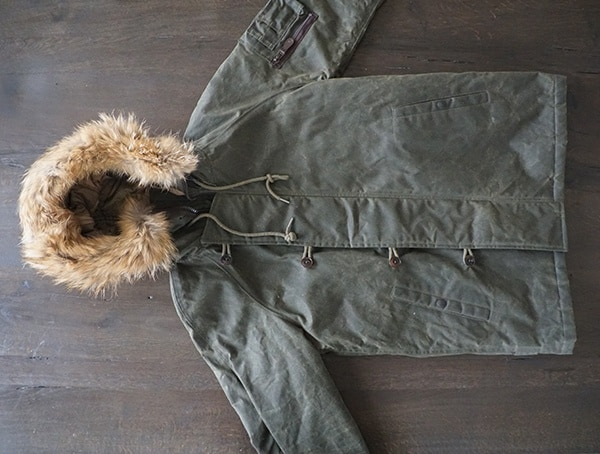 Olive Waxed Cotton Military Cockpit Usa Mountain Ranger Parka For Men