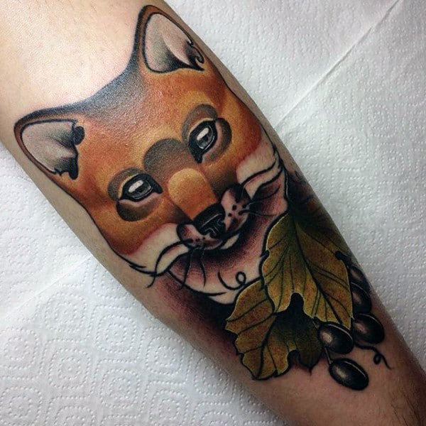 Olives And Sly Fox Tattoo Mens Forearms