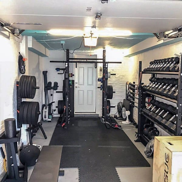 One Car Garage Gym Ideas With Rogue Workout Equipment