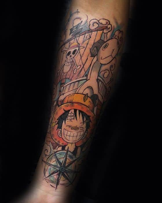 One Piece Forearm Male Tattoos