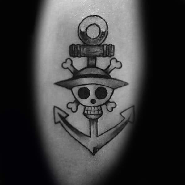 One Piece Tattoo Design Ideas For Males On Arm