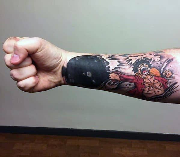 One Piece Tattoos Guys On Forearm