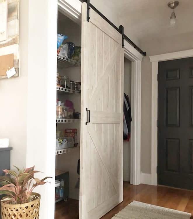 One Sliding Closet Barn Door