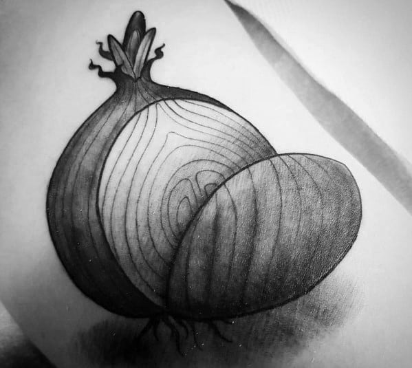 Onion Tattoo For Guys