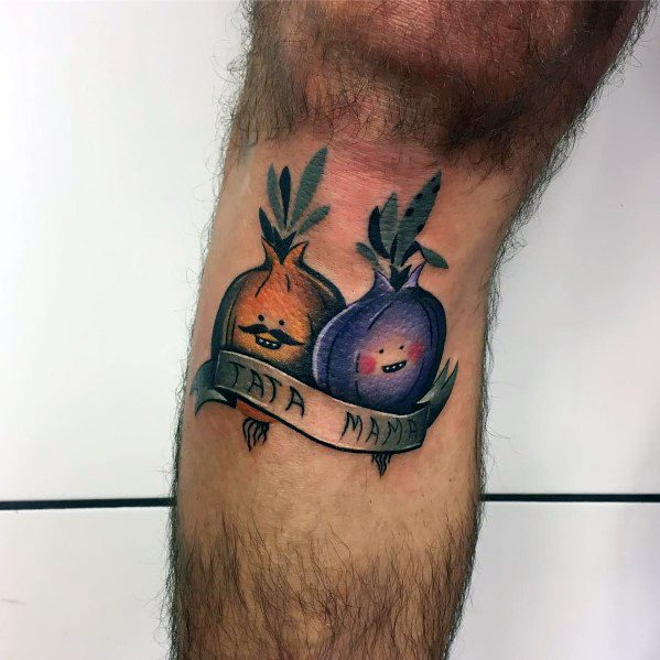 Onion Themed Tattoo Ideas For Men