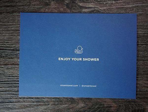 Onsen Towel Enjoy Your Shower