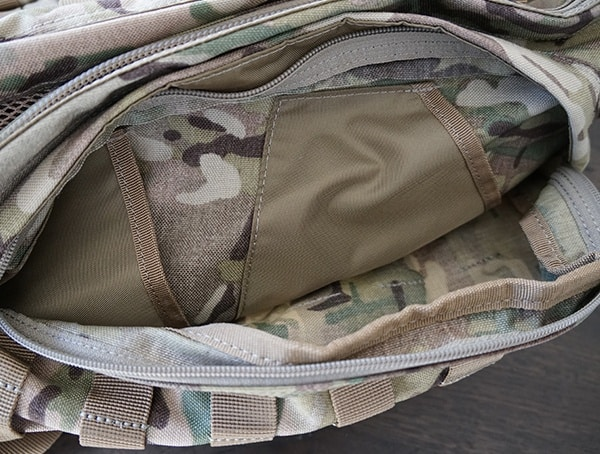 Open 5 11 Tactical Rush72 Backpack Side Compartment With Storage Pockets