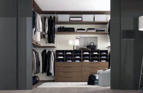 Open Concept Walk In Mens Closet Inspiration