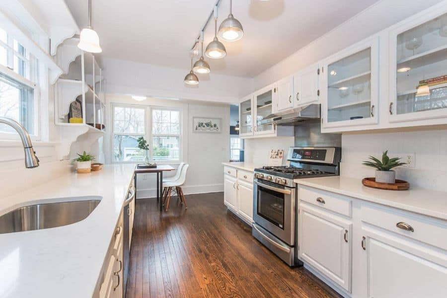 open galley kitchen ideas chrissytherealtor