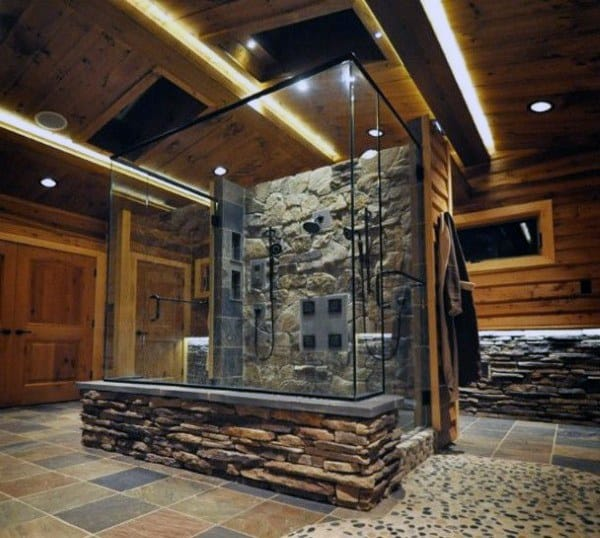 Best Modern Bedroom Designs: Top 70 Best Rustic Bathroom Ideas