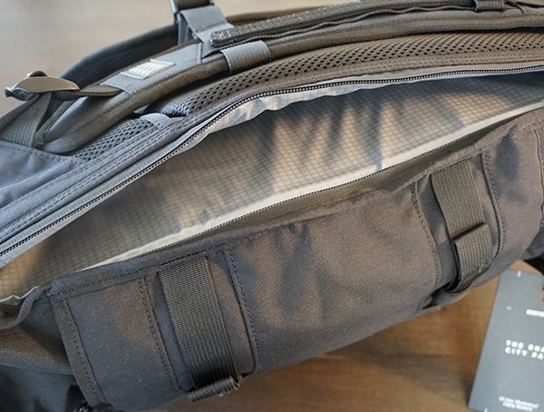 Open Laptop Compartment Mission Workshop The Rhake Waterproof Backpack