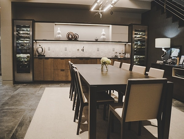 Open Modern Dining Room 2019 New American Remodel.