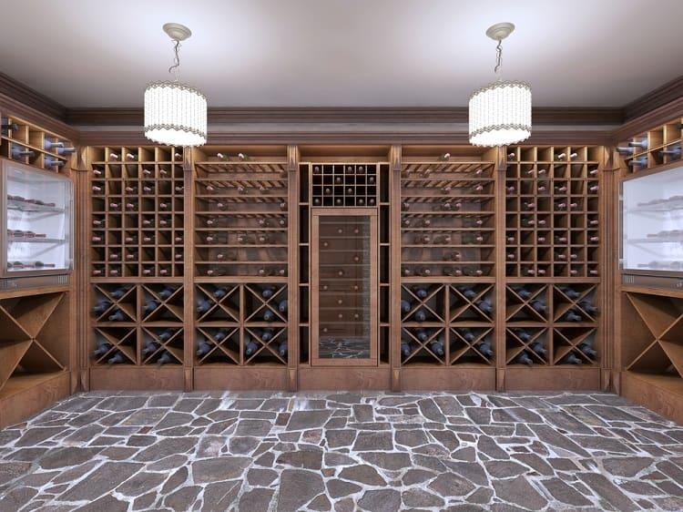 Open Racks Wine Cellar Basement Storage