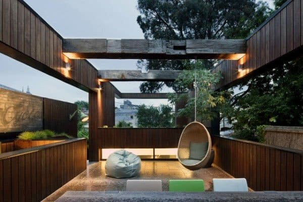 Open Roof Awesome Backyard Pavilion Ideas