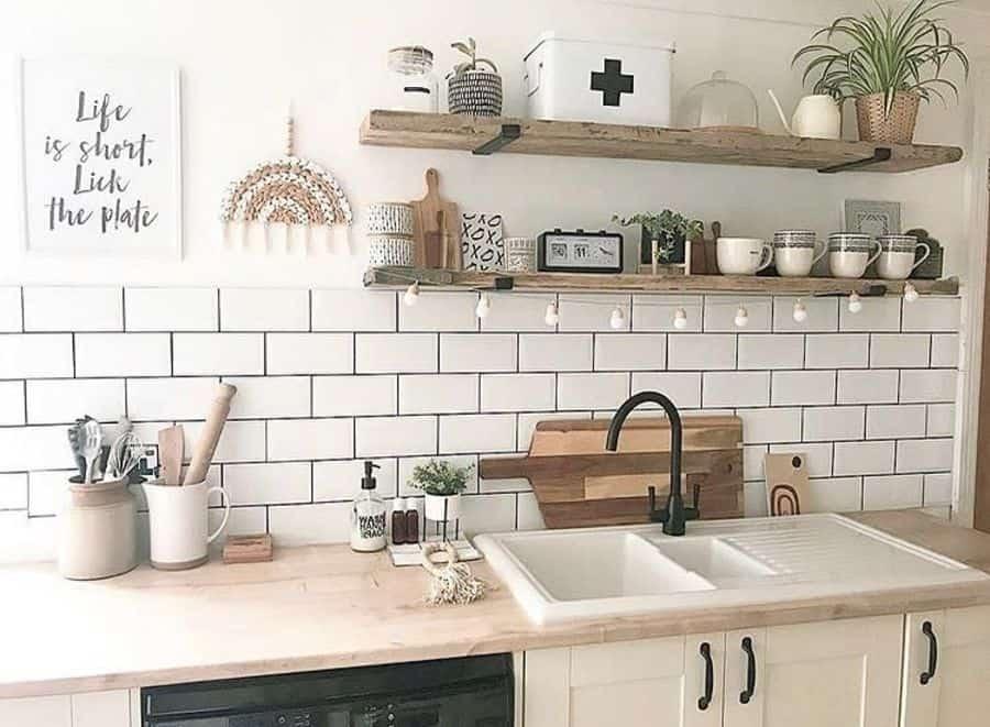 open shelves kitchen wall decor ideas makemydaystationery