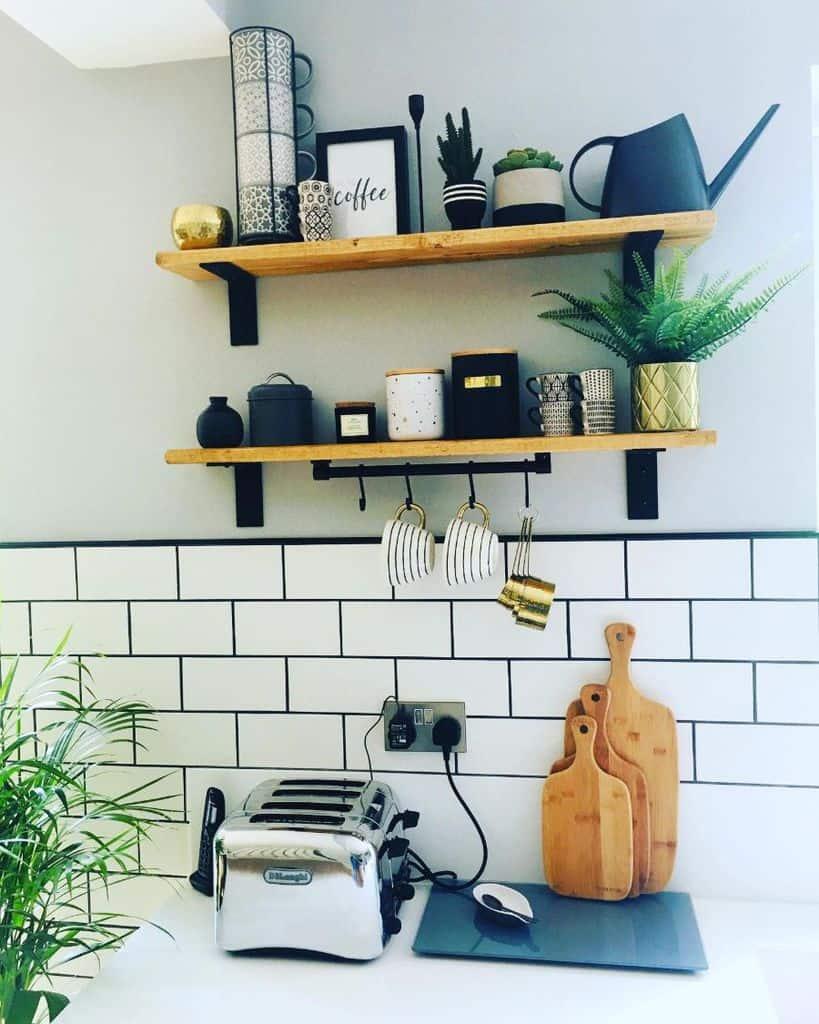 open shelves kitchen wall decor ideas perfecthomeland9