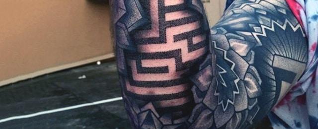 Optical Illusion Tattoos For Men