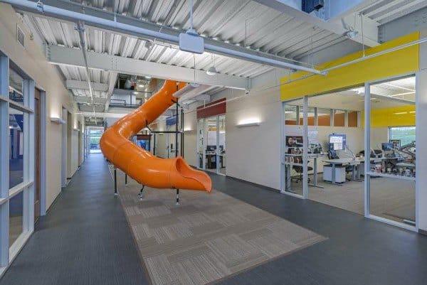 Orange Office Indoor Slide