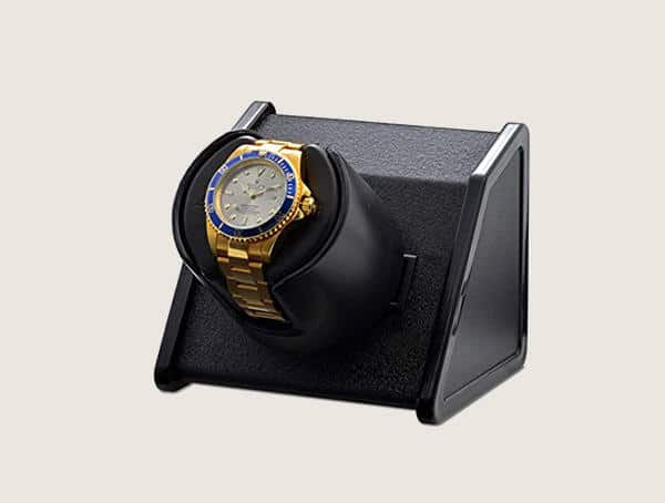 Orbita Voyager Travel Black Leather Watch Winder